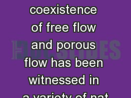 Introduction The coexistence of free flow and porous flow has been witnessed in a variety of nat