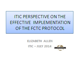 ITIC PERSPECTIVE  ON THE EFFECTIVE