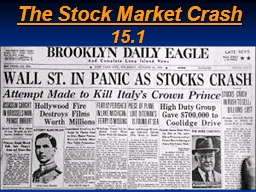 The Stock Market Crash 15.1