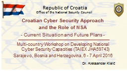 Croatian Cyber Security Approach