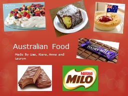 Australian Food Made by Lisa,