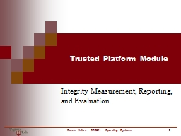 Trusted Platform Module Integrity Measurement, Reporting, and Evaluation