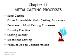 ISE 316  -  Manufacturing  Processes Engineering