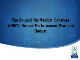 The Council for Medical Schemes