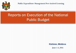 Public Expenditure Management Peer Assisted Learning