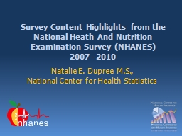 Survey Content Highlights from the