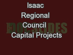 Isaac Regional Council  Capital Projects