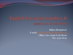 English for social workers II
