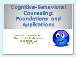 Cognitive-Behavioral Counseling