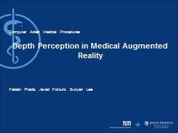 Depth Perception in Medical Augmented Reality