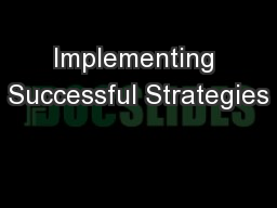 Implementing Successful Strategies PowerPoint PPT Presentation