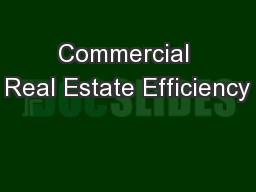 Commercial Real Estate Efficiency