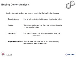 Buying  C enter  A nalysis PowerPoint PPT Presentation