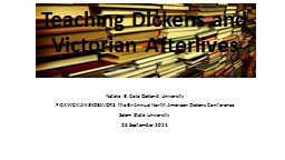 Teaching  Dickens and Victorian