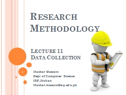Lecture  11 Data Collection
