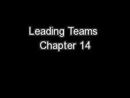 Leading Teams Chapter 14