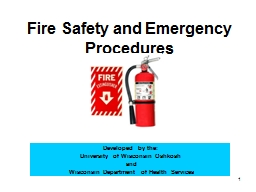 1 Fire Safety and Emergency Procedures PowerPoint PPT Presentation