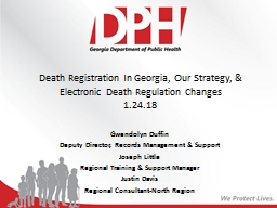 Death Registration In Georgia, Our Strategy, & Electronic Death