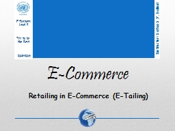 E-Commerce Retailing in E-Commerce (E-Tailing)