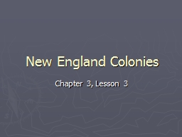 New England Colonies Chapter