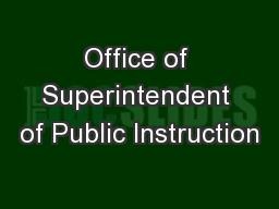 Office of Superintendent of Public Instruction
