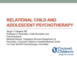 Relational Child and adolescent Psychotherapy
