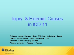 Injury  & External Causes