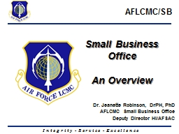 Small Business Office   An Overview PowerPoint PPT Presentation