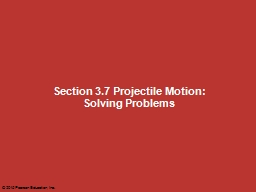 Section 3.7 Projectile Motion: