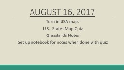 AUGUST 16, 2017 Turn in USA maps