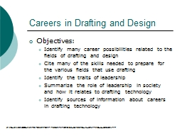 Careers in Drafting and Design