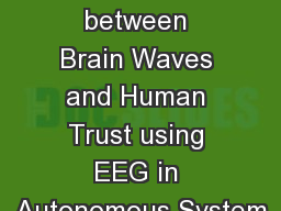 Correspondence between Brain Waves and Human Trust using EEG in Autonomous System
