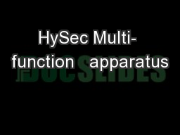 HySec Multi- function   apparatus