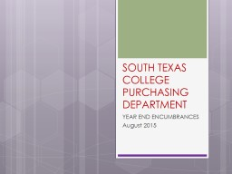 SOUTH TEXAS COLLEGE PURCHASING DEPARTMENT