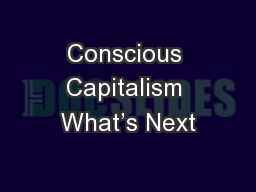 Conscious Capitalism What's Next