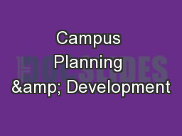 Campus Planning & Development