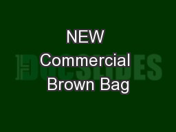 NEW Commercial Brown Bag