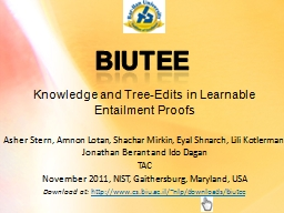 Knowledge and Tree-Edits in Learnable Entailment