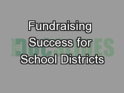 Fundraising Success for School Districts