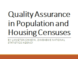 Quality  Assurance  in  Population