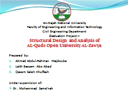 An- Najah  National University PowerPoint PPT Presentation