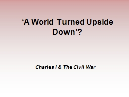 'A World Turned Upside Down'?