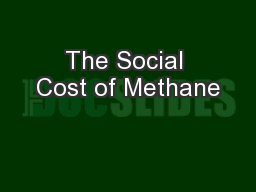 The Social Cost of Methane
