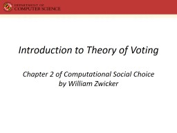 Introduction to Theory of Voting