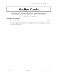 Customs Automated Manifest Interface Requirements Octo