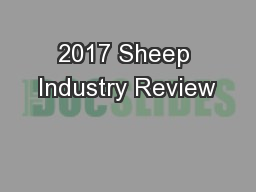 2017 Sheep Industry Review
