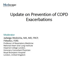 Update on Prevention of COPD Exacerbations