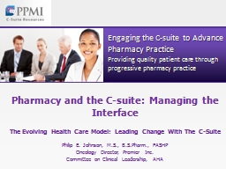 Pharmacy and the C-suite: Managing the Interface