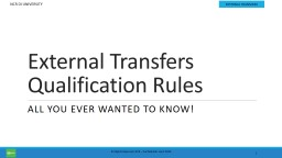 External Transfers Qualification Rules