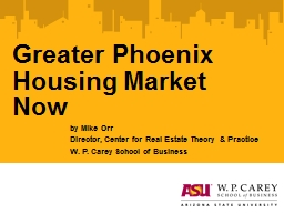 Greater Phoenix Housing